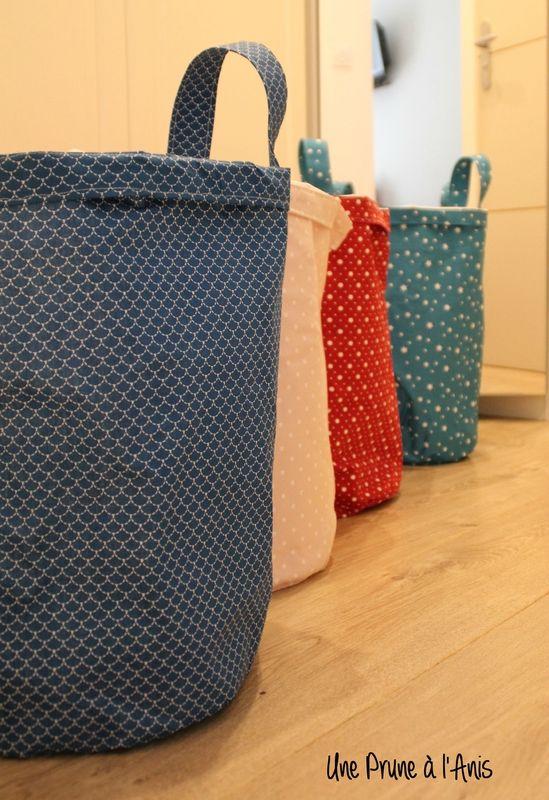 Blog De Loisirs Creatifs Couture Deco Bricolage Broderie Cuisine Dessin Etc Tuto Couture Panier Panier A Linge Panier Salle De Bain