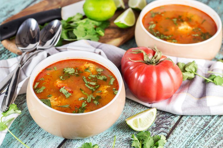 Mexican Shrimp Soup - Albóndigas de Camarón #mexicanshrimprecipes