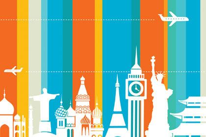 Travel Vector for Wall Decor by Print a Wallpaper - Offering Wallpaper Solution at USD 2.0 / sq.ft. Email us at info@printawallpaper.com or call us at ...