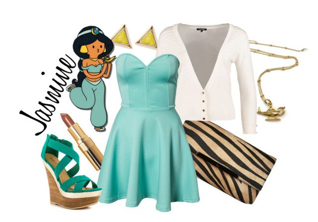 """Jasmine"" by lizamazoo ❤ liked on Polyvore featuring Christian Louboutin, ABS by Allen Schwartz, Morgan, Bobbi Brown Cosmetics, Disney, Club L and JustFab"