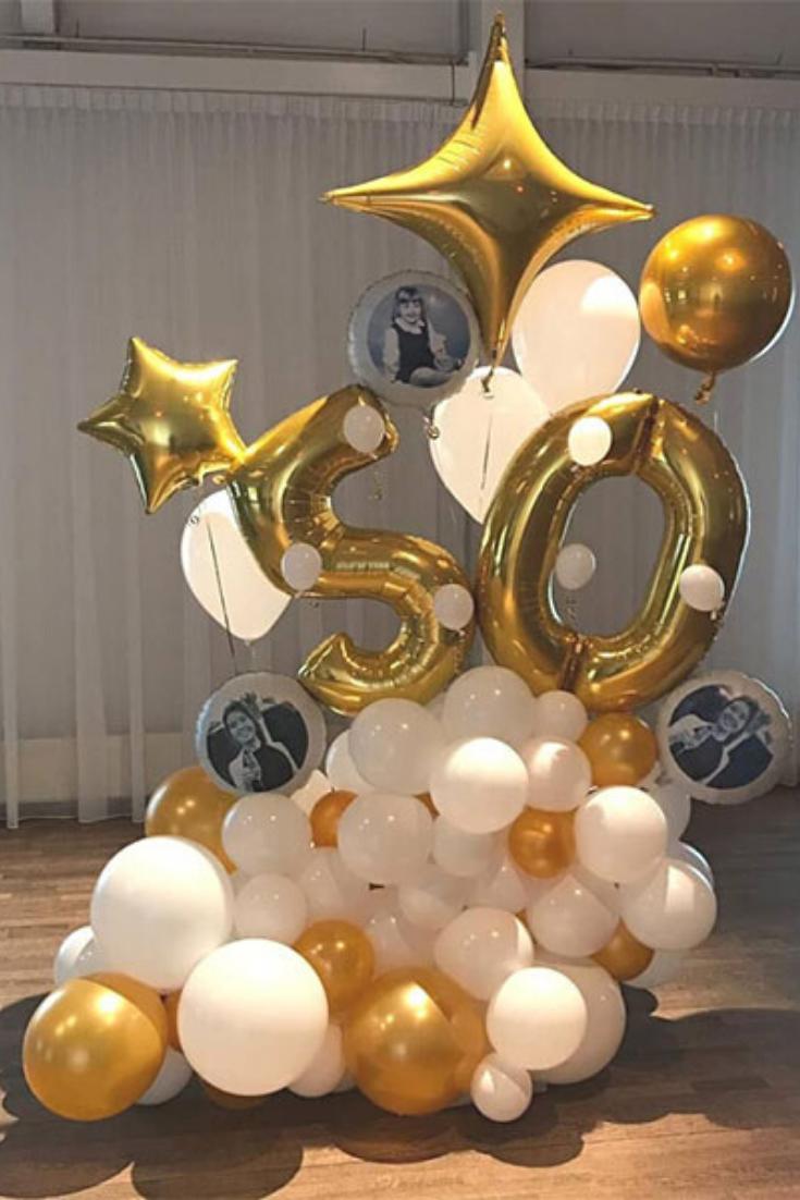 50 Jaar Ballondecoratie Ballondecoraties Ballonnen Decoratie
