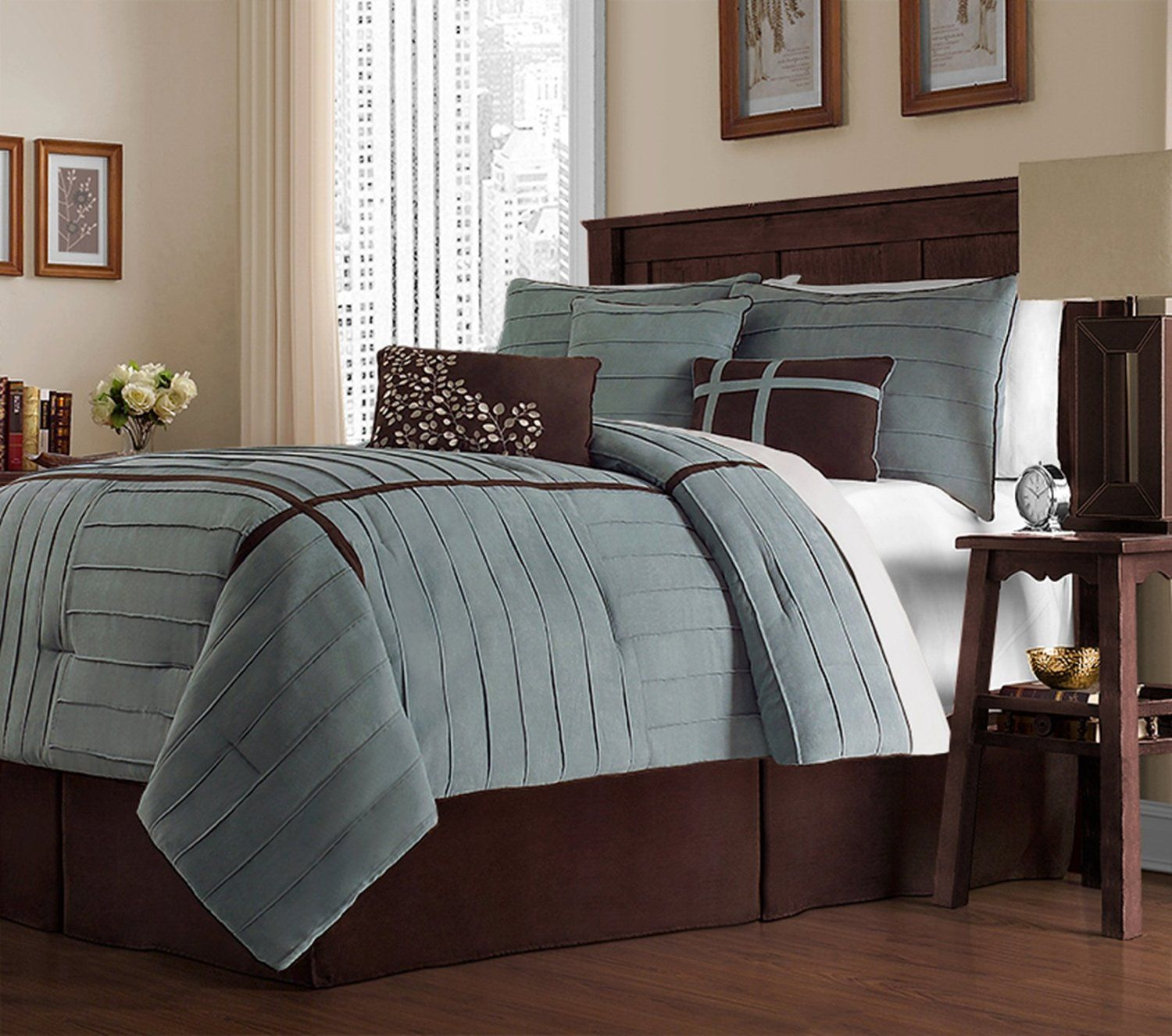 Exceptional Amazon.com: Victoria Classics Ellington 7 Piece Comforter Set, King, Blue