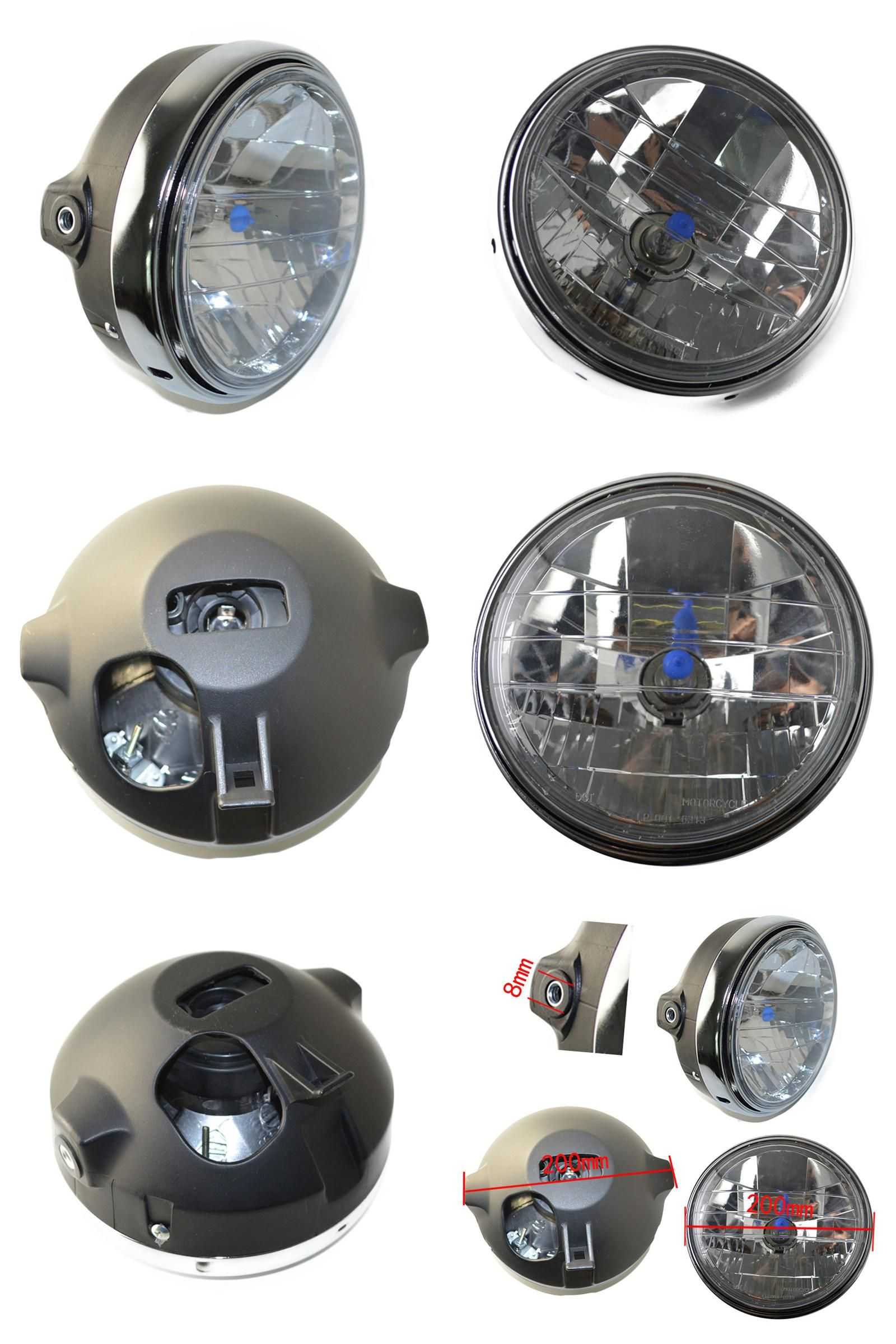 [Visit to Buy] Motorcycle Round Chrome Halogen Headlight Lamp For Honda CB400 CB500 CB1300 Hornet250 Hornet600 Hornet900  #Advertisement