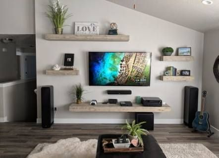 Wall Shelving Ideas Living Room Entertainment Center Decor Around Tv Tv Decor