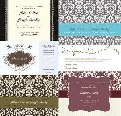 Westernstyle wedding pattern vector Vector pattern - Free vector for free download
