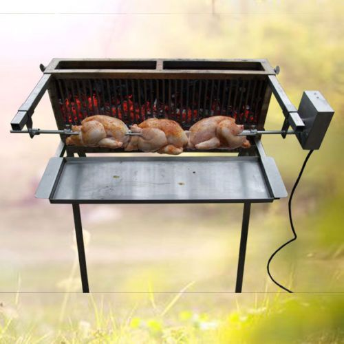 barbecue bbq inox combustion verticale largeur 66 cm charbon de bois barbecue cuisine en. Black Bedroom Furniture Sets. Home Design Ideas