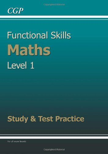 Functional Skills Maths Level 1 Study And Test Practice By Cgp Books Http Www Amazon Co Uk Dp 1847628710 Ref Cm Sw R Pi Dp 7 Kntb1n Study Test Math Skills