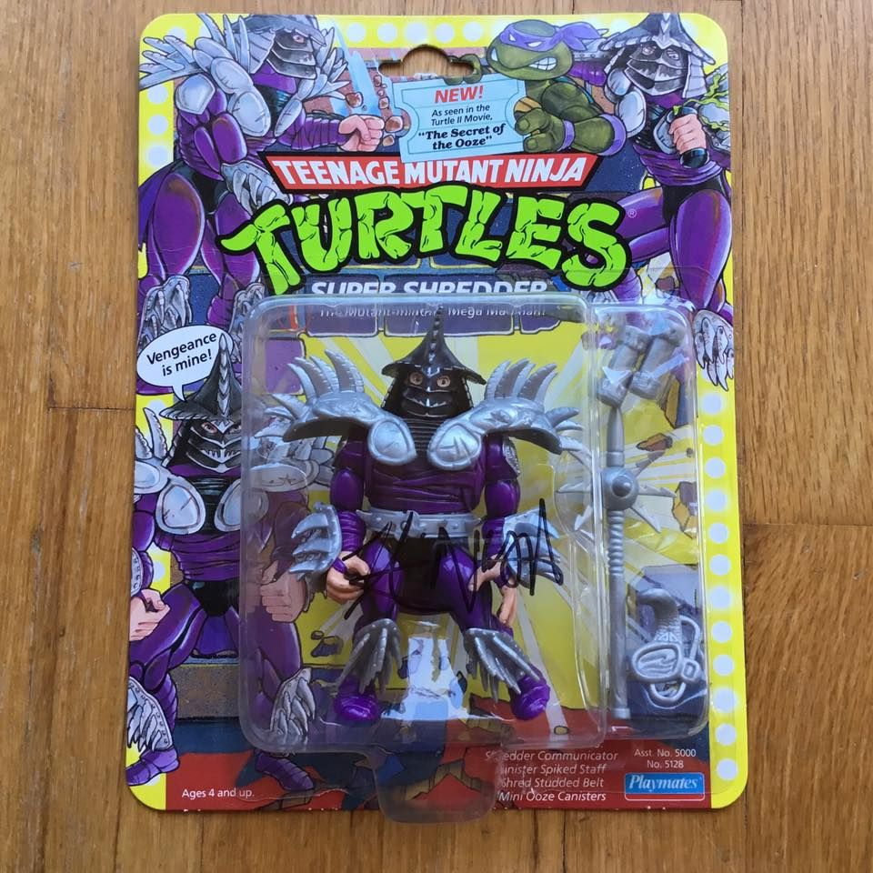 1991 Wave 1 TMNT SUPER SHREDDER Mint On Card, Punched