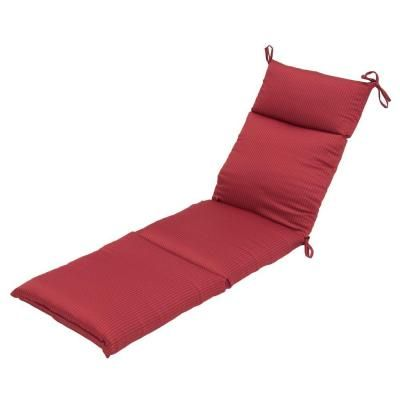 Hampton Bay Chili Solid Outdoor Chaise Lounge Cushion The Home