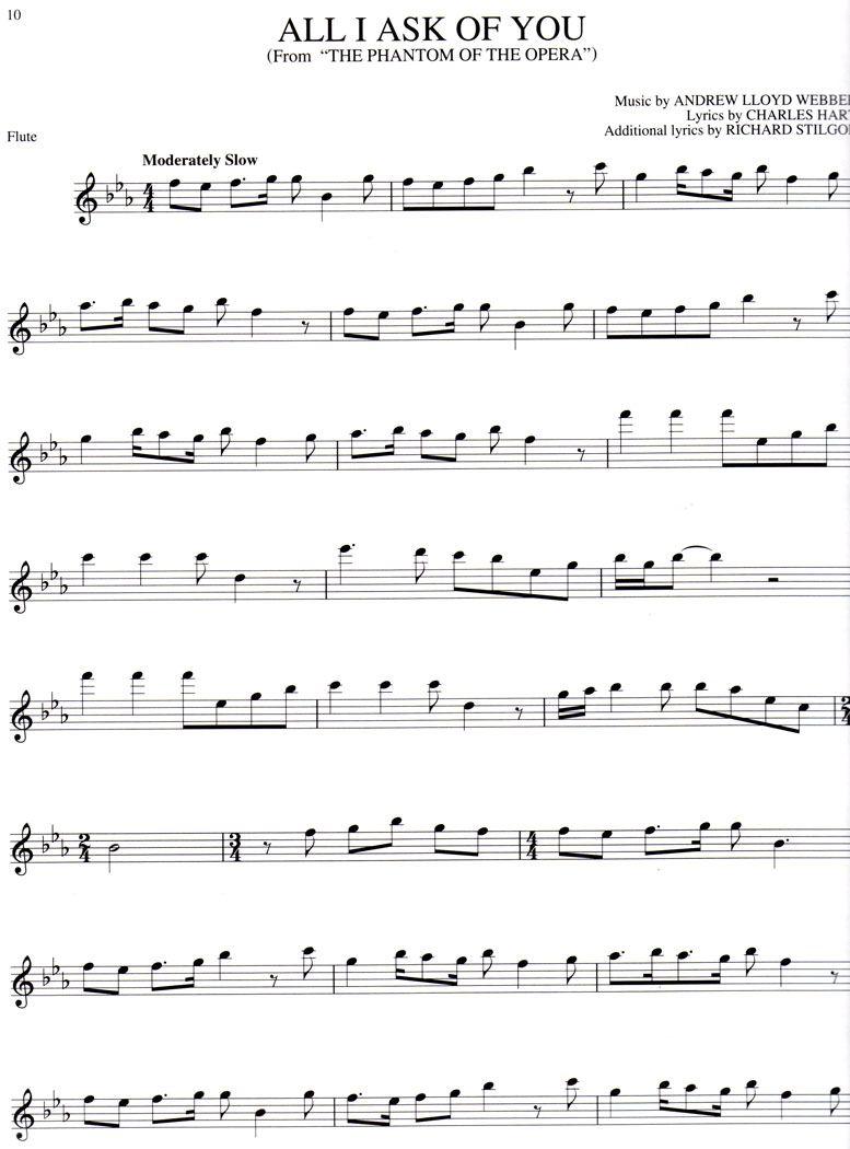 Lyrics On My Own Les Miserable Flute Sheet Music Sheet Music