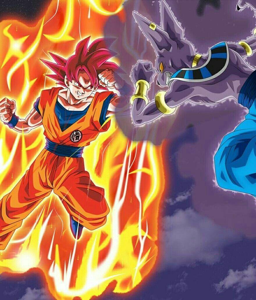 Goku Vs Bills Anime Dragon Ball Super Dragon Ball Super Manga Dragon Ball Painting
