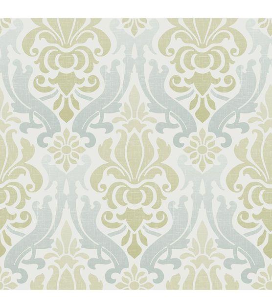 Wallpops Nuwallpaper Blue And Green Nouveau Damask Peel And Stick Wallpaper Jo Ann Damask Wallpaper Grey Damask Wallpaper Grey Textured Wallpaper