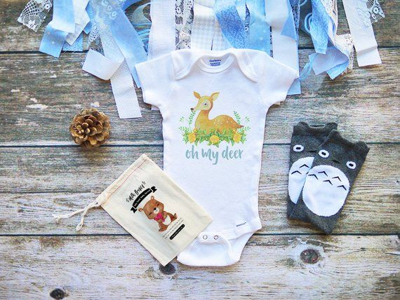 Oh My Deer Cute Baby Onesie® Baby Clothes  Baby Boy & Girl Clothes  Infant Clothing   Baby Shower is part of Baby Clothes Dinosaur - Bodysuit displayed in the photo  Additional accessories not included SIZING For sizing specs, please refer to the image size chart  If you are not familiar with the Gerber ONESIES® Brand or are in between sizes, you may want to go up 1 size  Due to all items being PrintOnDemand, all sales are FINAL and exchanges or returns are not accepted All of our bodysuits are printed on Gerber ONESIES® Brand which are available in the sizes newborn, 03 months, 36 months, 69 months, 12 months, 18 months and 24 months Fabric Content Made from 100% Premium Cotton rib construction for comfort and softness, have a lap shoulder neckline for ease of dressing, hems are double stitched to keep smooth after excessive washings and a snap closure conveniently positioned for ease of changing baby's diaper Printing Process All of our items are printed with EcoFriendly lightcolored inks for a clean vintage look Care Instructions It is recommended to wash garment inside out with cold water and hang to dry ◆ ◆ ◆ ◆ ◆ ◆ ◆ ◆ ◆ ◆ ◆ ◆ ◆ ◆ ◆Why Shop @ Milk Basics ‣ Our bodysuits are premium 100% cotton Gerber ONESIES® Brand  Extra soft feel and made for durability ‣ Get your order FAST! We process and ship your order within 3 business days!‣ We ship from the United States and ship all packages either via First Class Mail or Priority Shipping  All orders come with complimentary tracking ◆ ◆ ◆ ◆ ◆ ◆ ◆ ◆ ◆ ◆ ◆ ◆ ◆ ◆ ◆ONESIES is a registered trademark owned by Gerber Childrenswear LLC  Terms  ONESIES,   ONESIE,   ONSIE,  and anything similar are all used in accordance with Gerber Childrenswear's policies