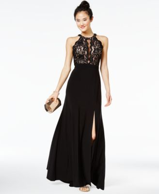 Morgan Company Juniors Sequined Lace Gown Macyscom Prom