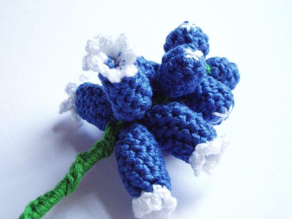 Grape Hyacinth Crochet Flower Chrochet Virg Pinterest