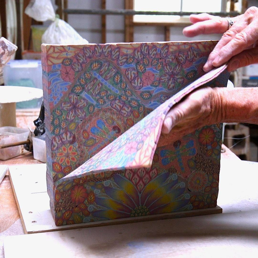 How psychedelic pottery is made