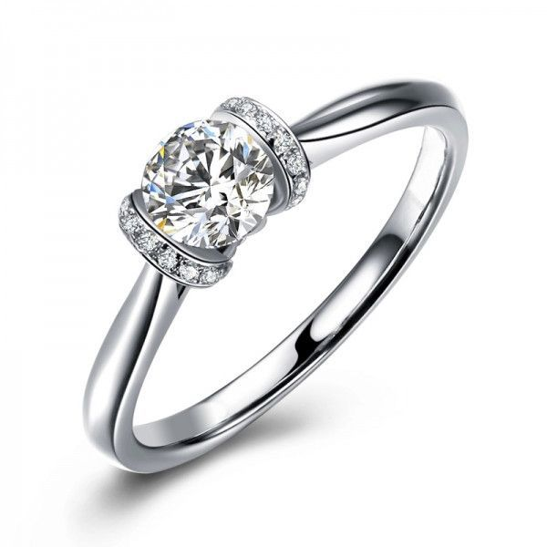 Aaa Rated White Sapphire Engagement Rings