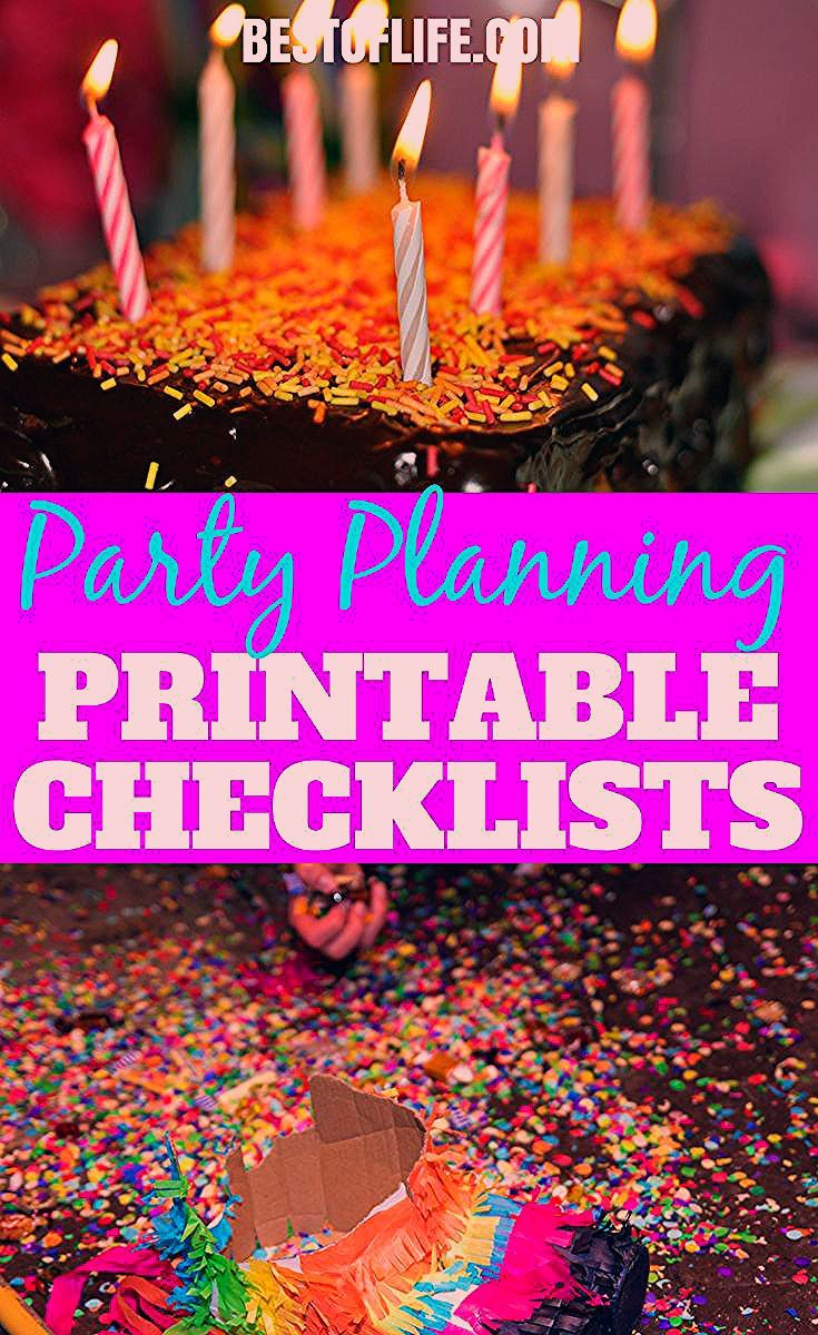 50 Party Planning Checklist Printables   Party Templates - The Best of Life