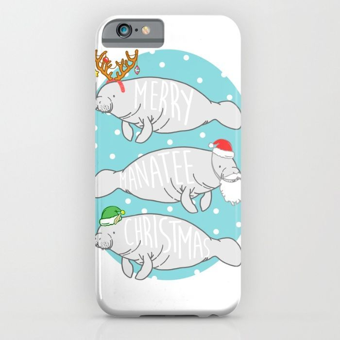 80e35a0f8fc7 A Very Manatee Christmas iPhone & iPod Case by Natelle Quek ...