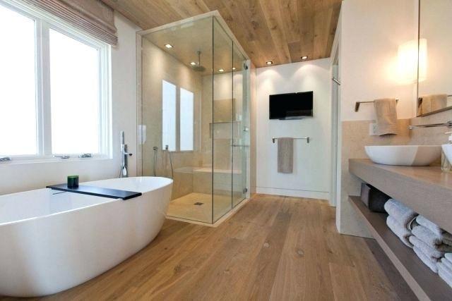 Big Bathroom Bathroomdecoration Bathroom Badezimmer Holzboden