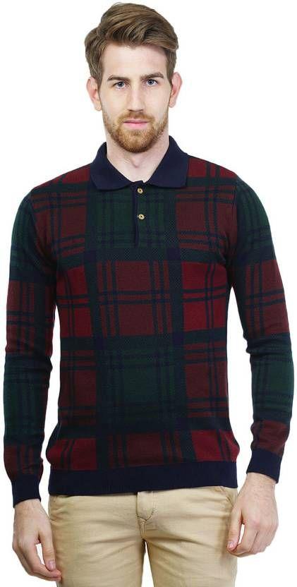 2cebcc78eddc Kalt Self Design V-neck Casual Men Multicolor Sweater