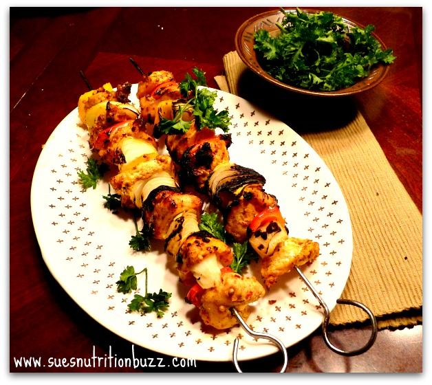 Middle Eastern Chicken Kebabs spiked with Curicumin, grilled to perfection !