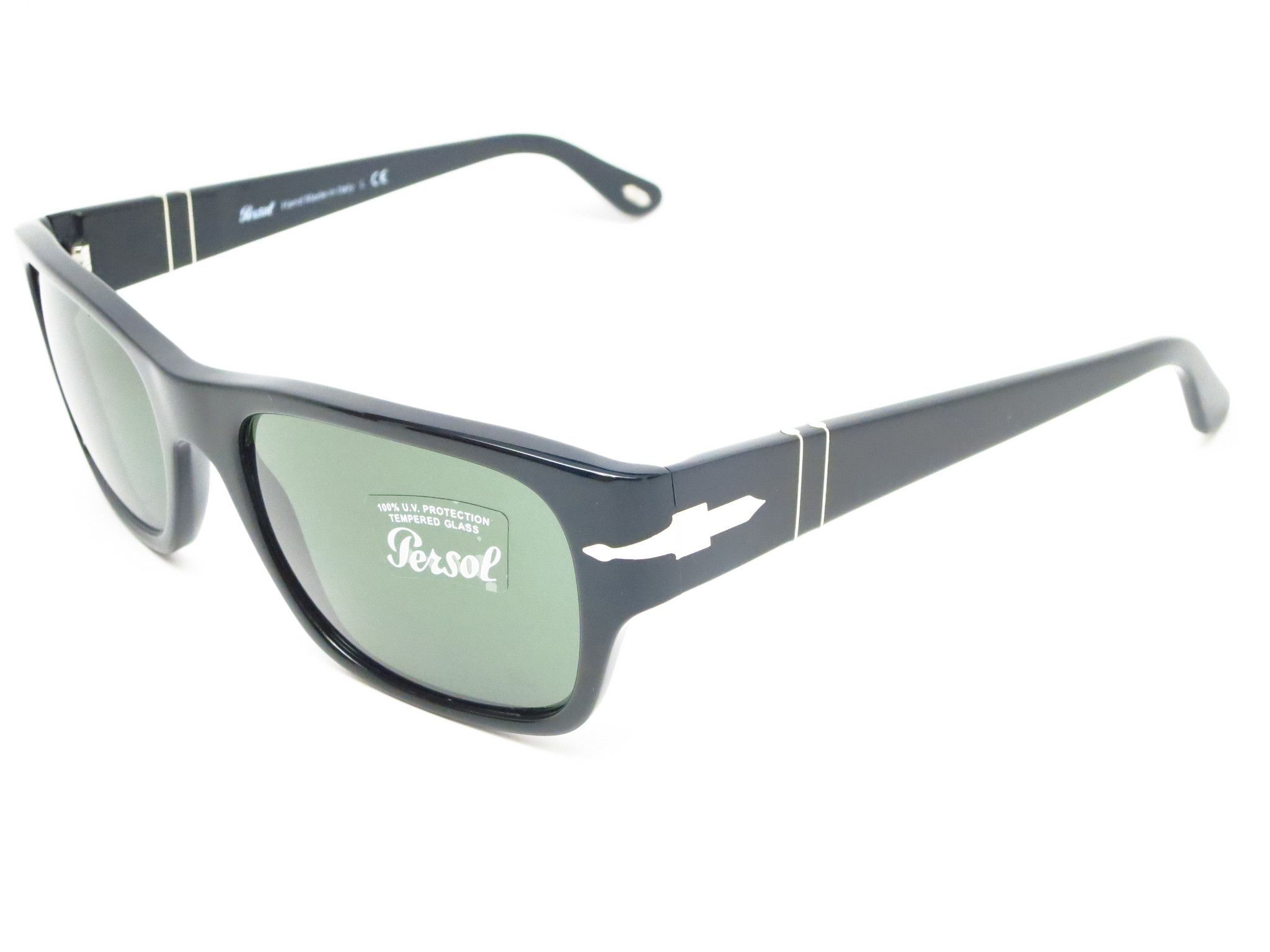 0f58df121e Persol PO 3021-S 95 31 Shiny Black Sunglasses