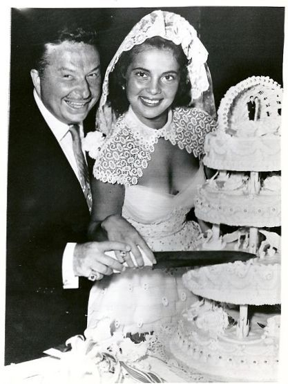 Wedding of Abbe Lane and Xavier Cugat. 1952.