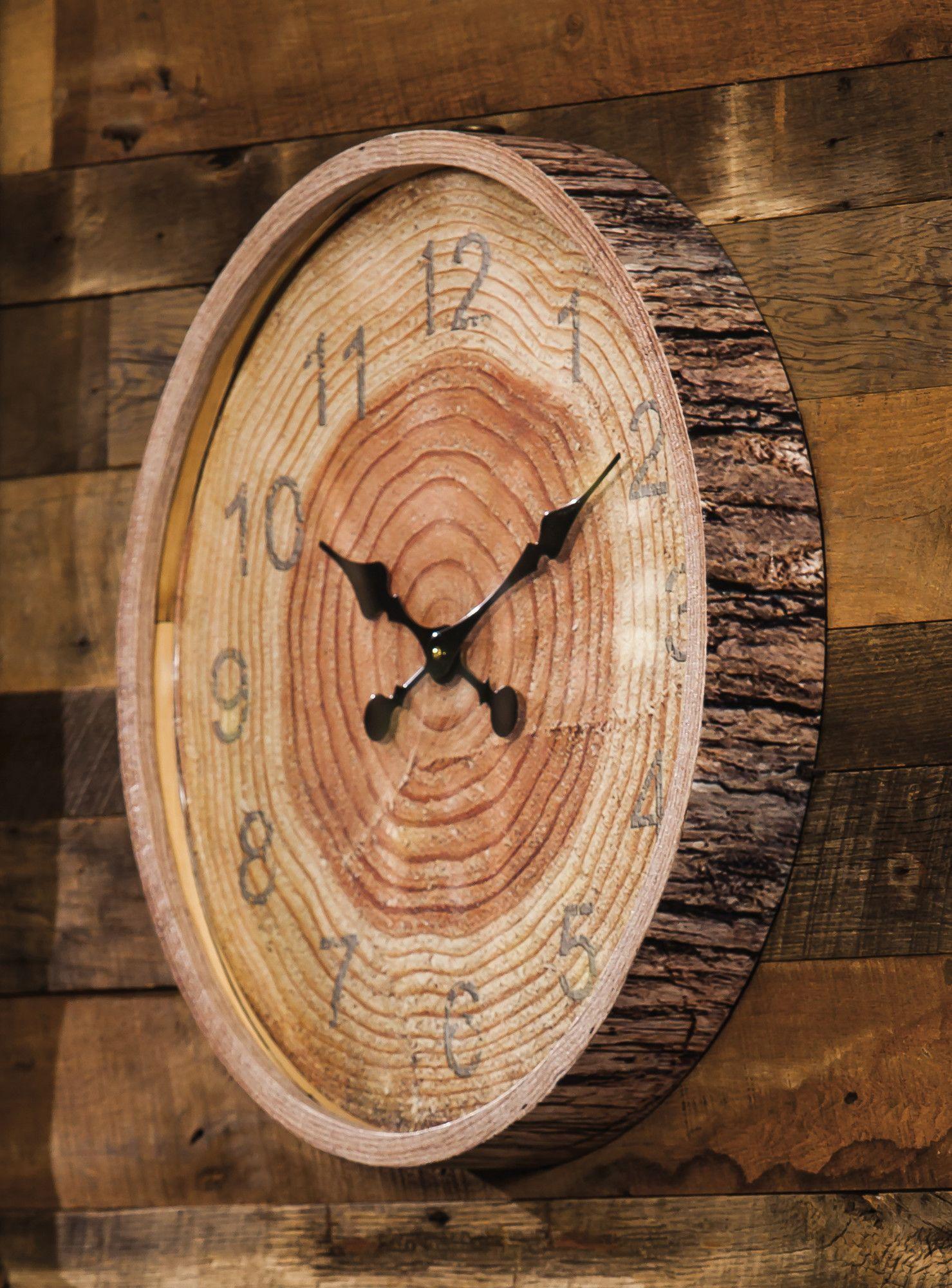 Shayla Wall Clock Joss Main Wood Wall Clock Wood Clocks Wood Diy