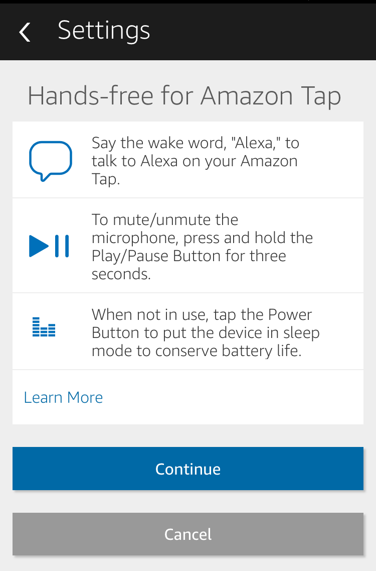 Picked Up The Amazon Tap Part Of The Amazon Echo Alexa Family Well Done Now You Need To Turn Off Tap To Talk An Apple Iphone 7 32gb Hands Free Amazon Echo