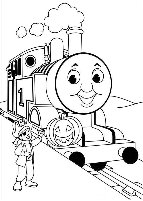 FREE coloring pages for kids one ex) Thomas and Friends | Malen ...