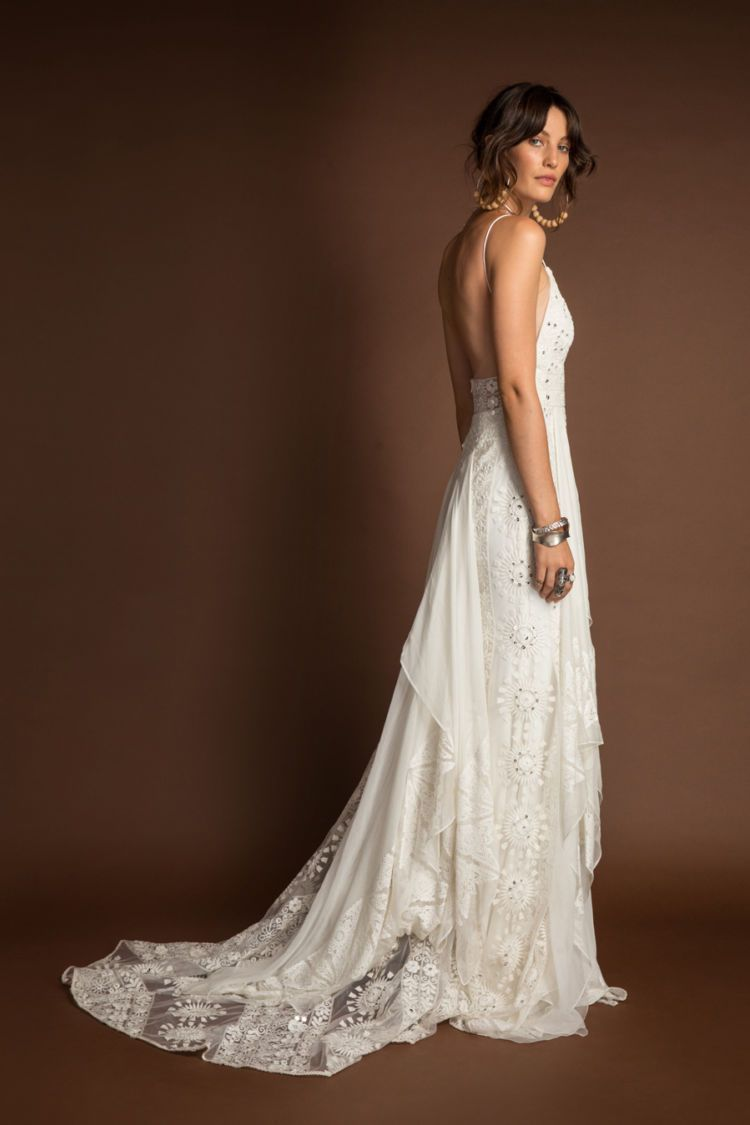 Soraya Gown  Rue De Seine  Wild Heart Collection  Bohemian wedding dresses  Boho Bridal   Boho wedding dresses  wedding dress  indie wedding dresses  beautiful lace  intr...