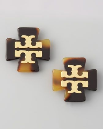 Tory Burch Clover Logo Earrings