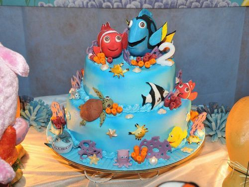 Finding Nemo Birthday Cake Birthday Cake Ideas Pinterest - Nemo fish birthday cake