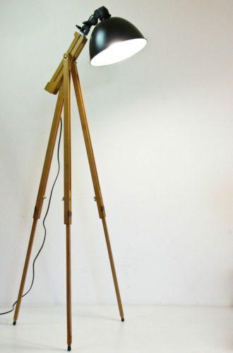 Scheinwerfer Stehlampe Tripod Lampe Retro Design Stehleuchte Im