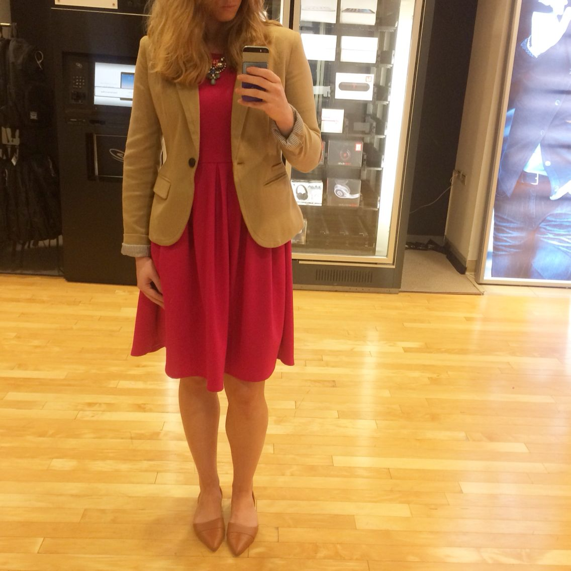 Pink and camel - women's fashion