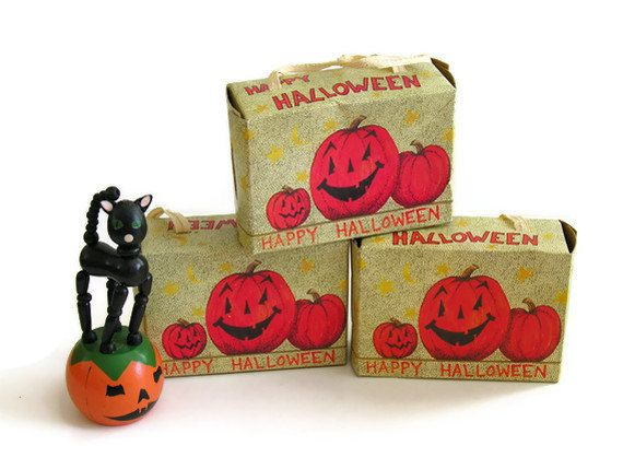 Vintage Halloween Candy Goodie Box Small Trick or by veraviola, $10.00