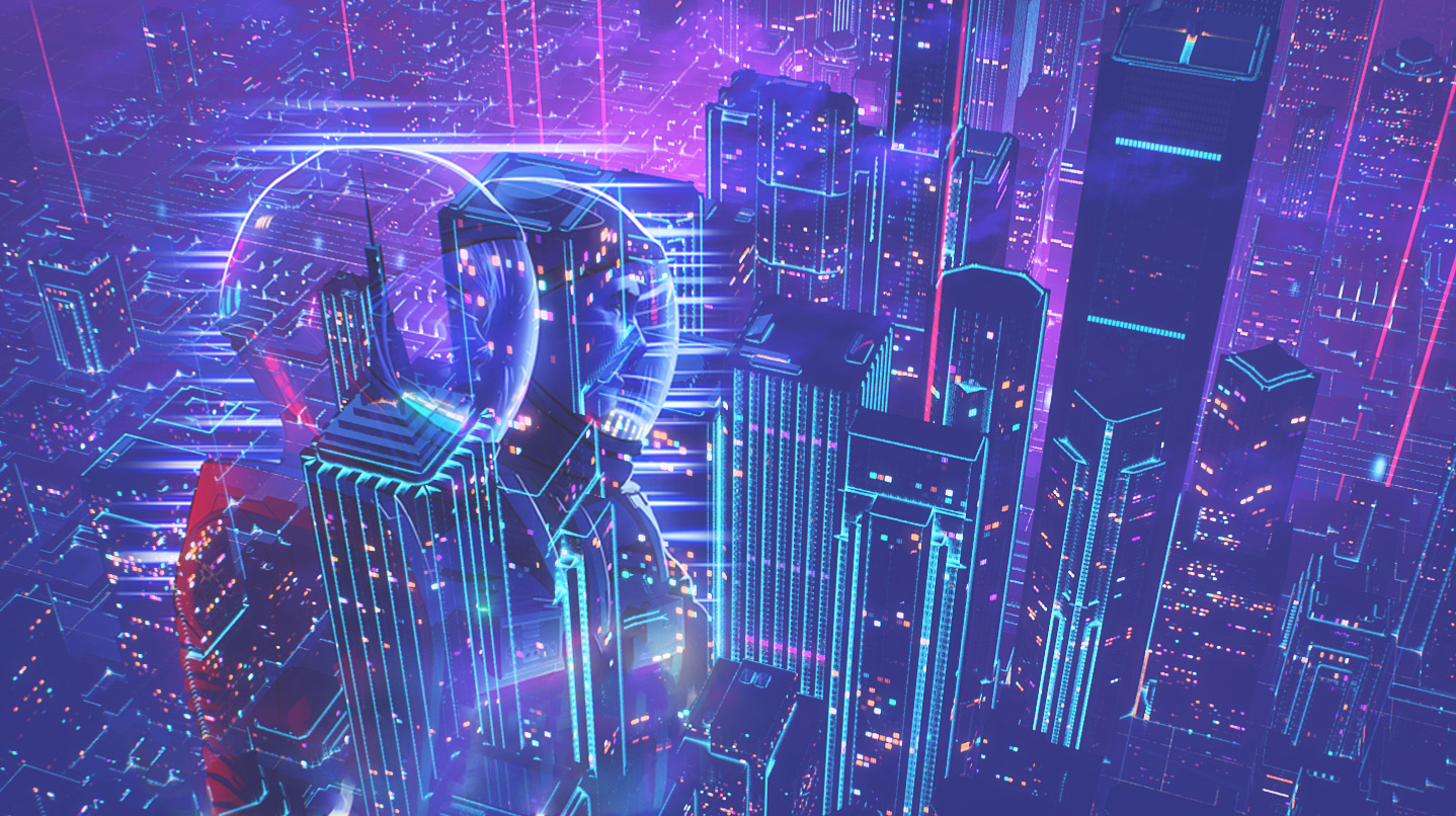 R Outrun Wallpapers Retro Futurism Cyberpunk City Wallpaper