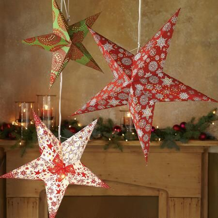SUNDANCE STAR LIGHTS - Handmade of recycled all-cotton paper, our - christmas clearance decor