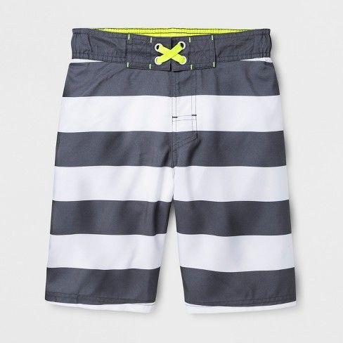 f7cff57663656 Boys' Prism Stripe Swim Trunks - Cat & Jack L, Gray | Products ...