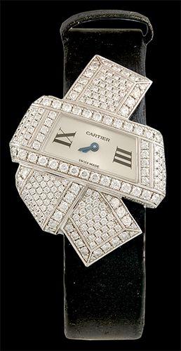 CARTIER Diamond Watch - Yafa Jewelry