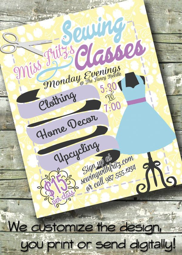 sewing classes trunk show fashion show clothes swap 5x7