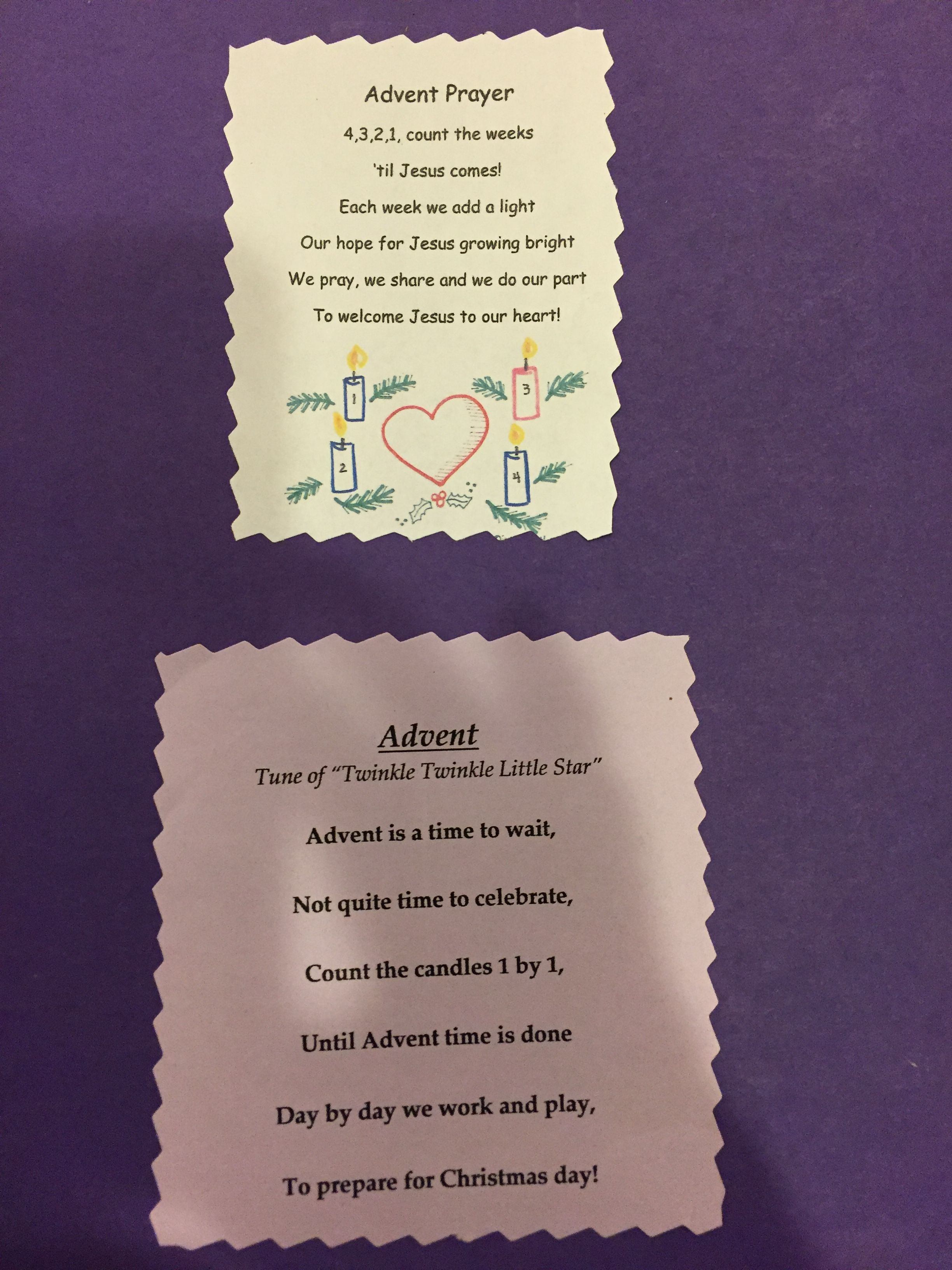 Advent Prayer And Song