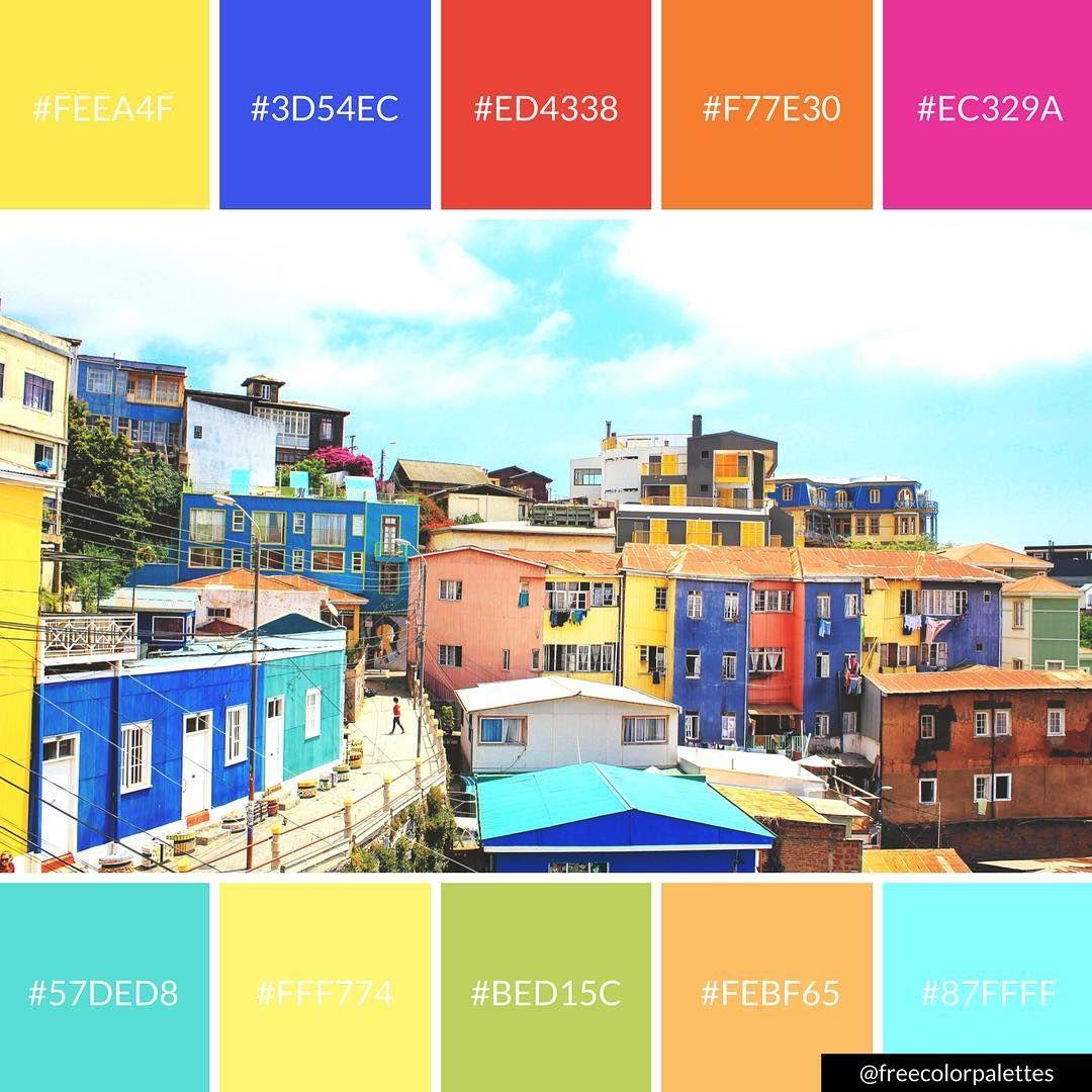 Bold rainbow architecture travel goals color palette