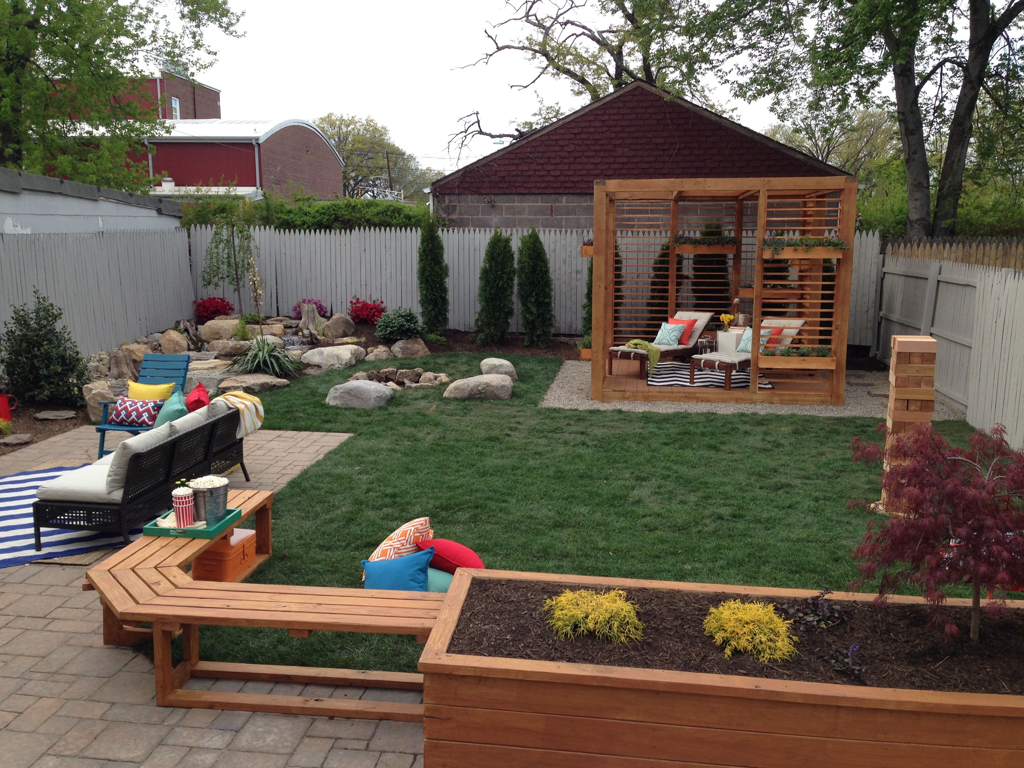 This Family S New Backyard Has Several Designated Zones For
