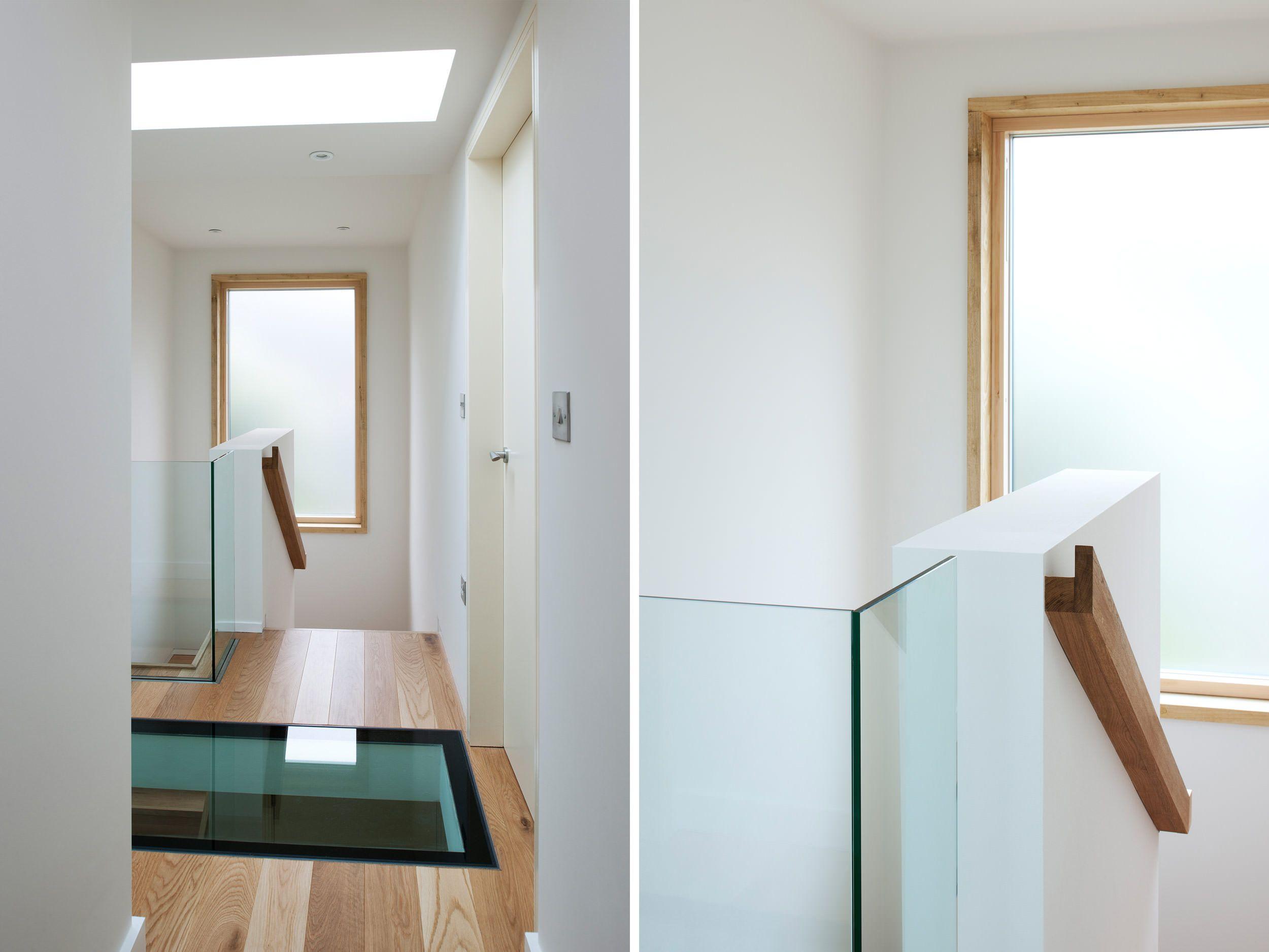Glass Walkway, Oak Handrail   Extension & Renovation   The Paddocks     PAD Studio Architects   www.PADstudio.co.uk