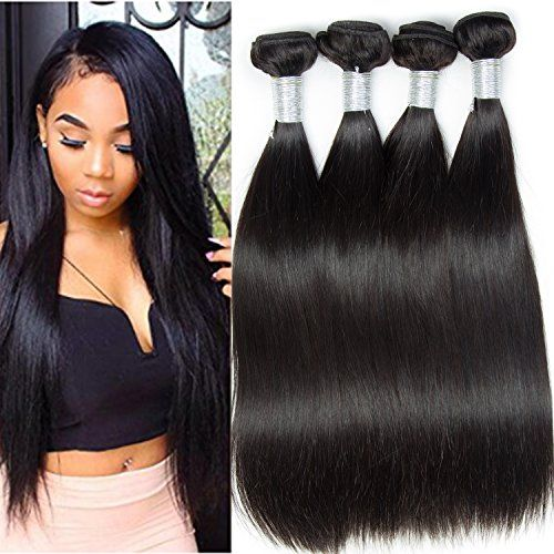 Vipbeauty 8a Peruvian Virgin Straight Hair 4 Bundles 100