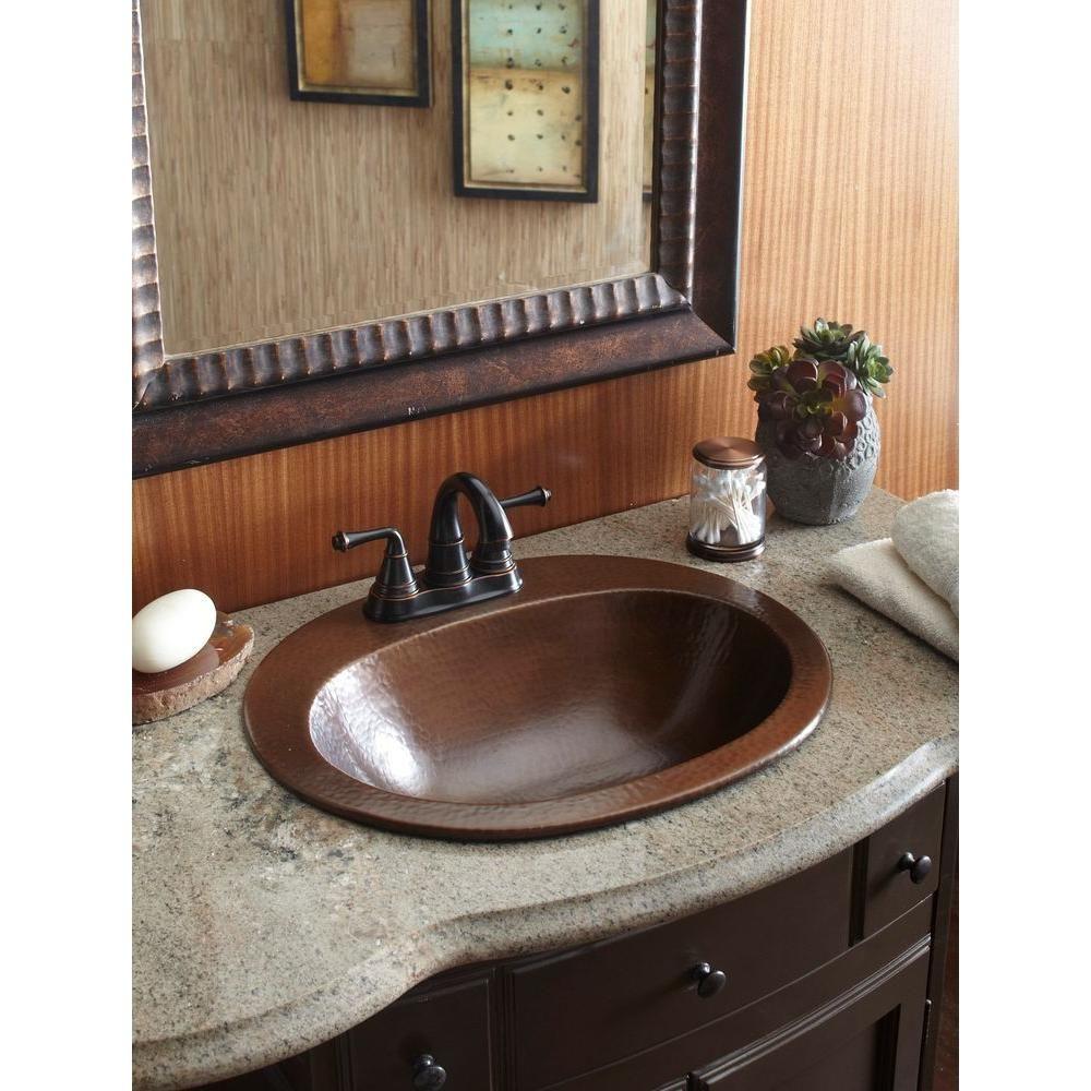 Sinkology Pfister All In One Seville Copper Drop In Bathroom Sink