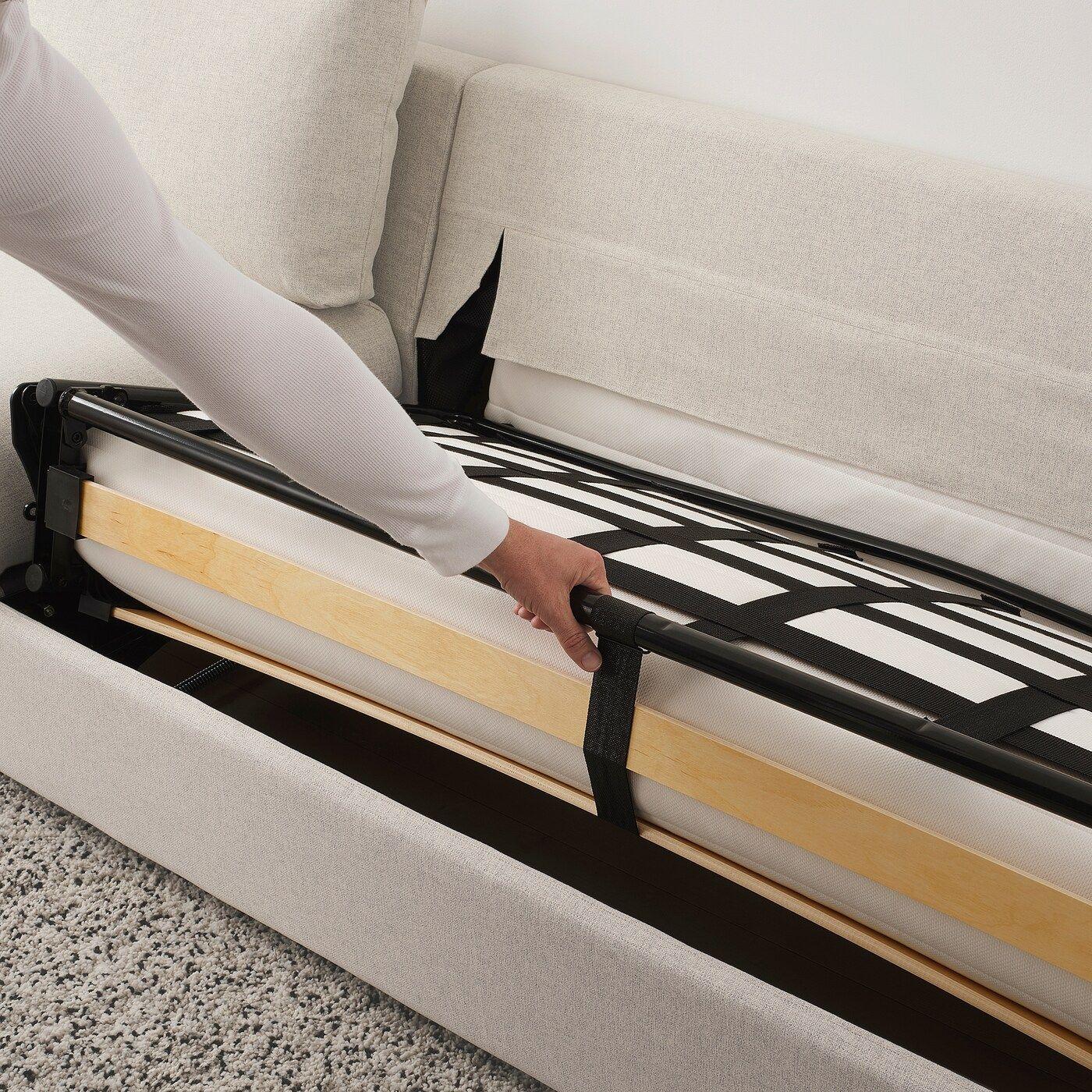 VIMLE 5er Eckbettsofa mit Récamiere, Gunnared beige IKEA
