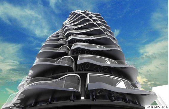 科技 - 工業設計師跨界做建築設計:螺旋式公寓樓 Life2c.com - Life Style